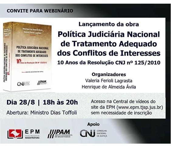 Lançamento - Política Judiciária Nacional de Tratamento Adequado dos Conflitos de Interesses_00