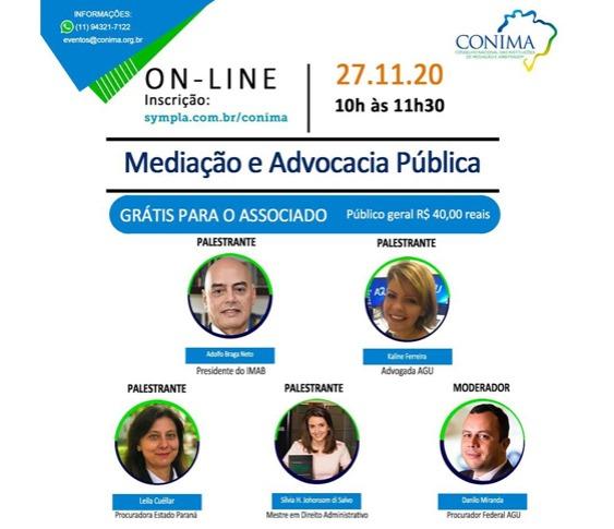 Palestra online - Mediação e Advocacia Pública_00