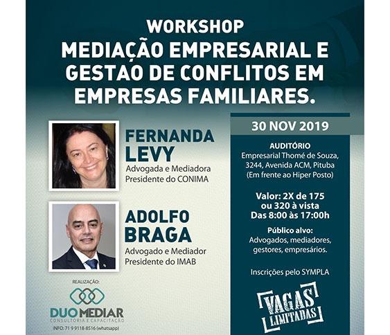 WORKSHOP   MEDIAÇÃO EMPRESARIAL E GESTÃO DE CONFLITOS EM EMPRESAS FAMILIARES_00