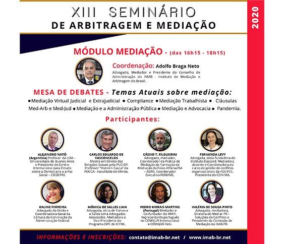 XIII SEMINÁRIO - MÓDULO MEDIAÇÃO